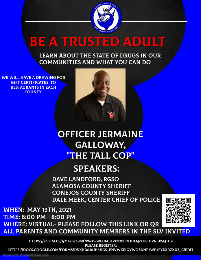 "The ""Tall Cop"" and local law enforcement agencies will discuss drugs in our communities."